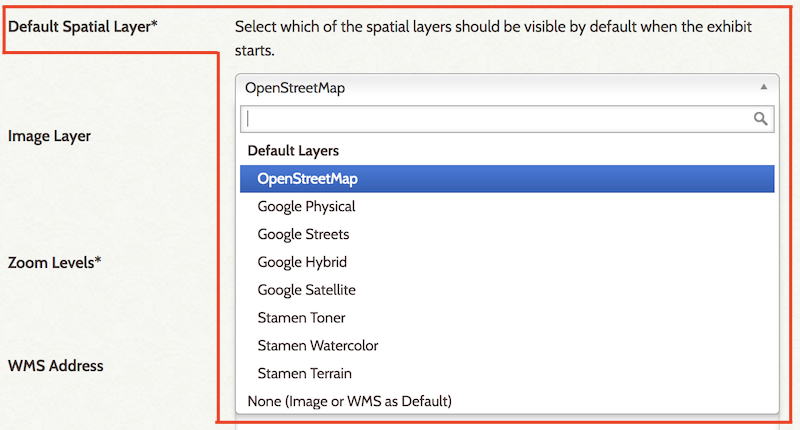Screenshot of selecting Default Spatial Layer